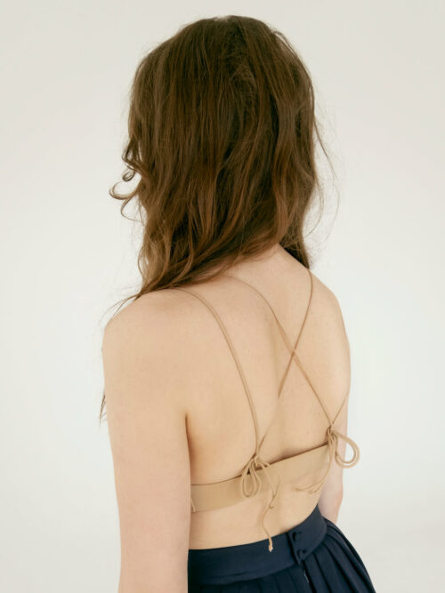 Pale nude bralette with laces