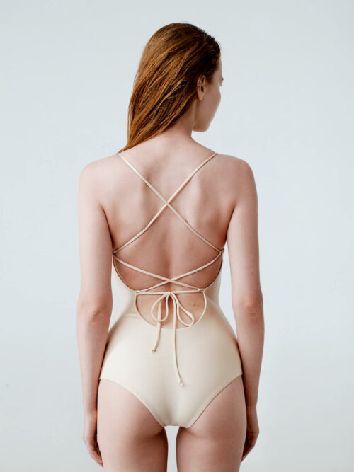 Sport chic one-piece swimsuit in sunshine color